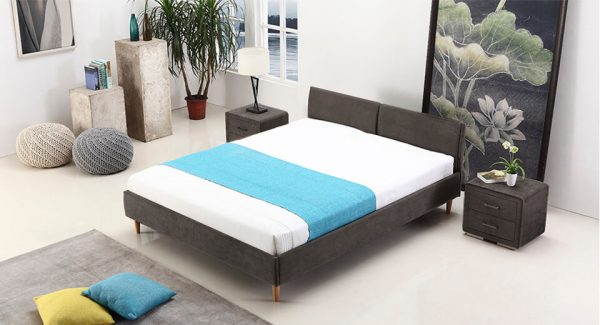 מיטה זוגית דונטו אפור כהה