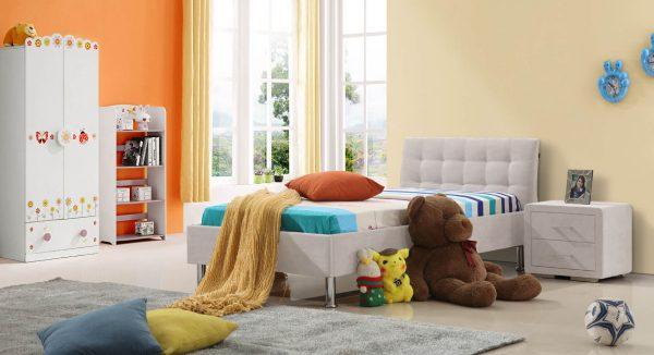 מיטת ילדים קלי אפור בהיר
